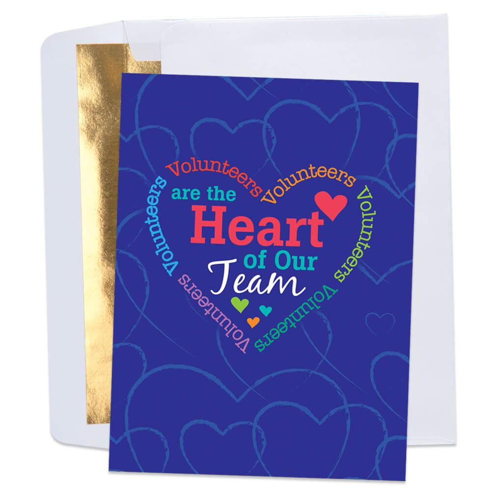 Volunteers Are The Heart Of Our Team Greeting Card