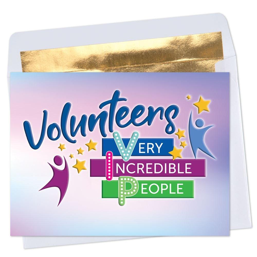 Volunteers: Very Incredible People Greeting Card