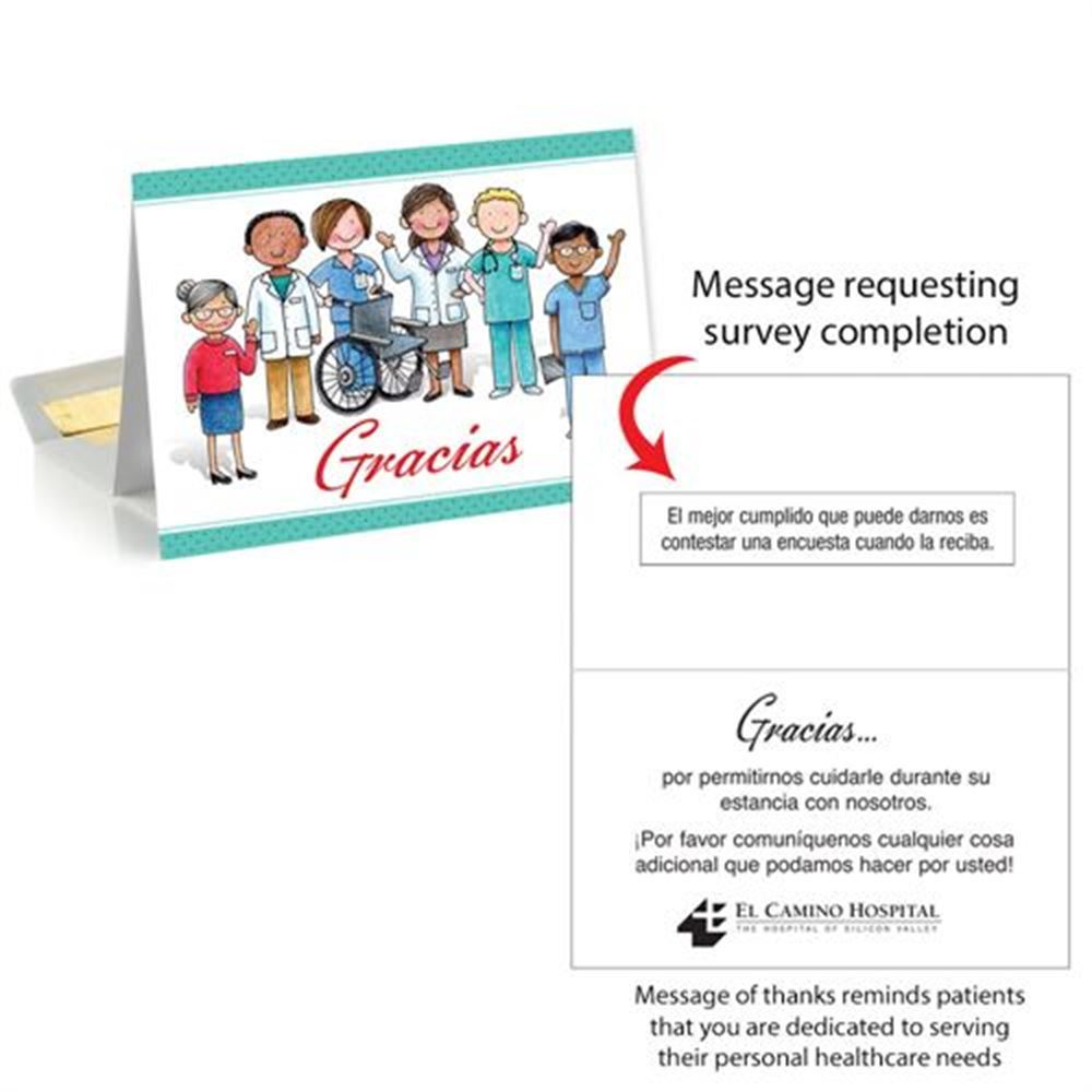 Thank You, Patient Follow-Up Greeting Card - Personalization Available (Spanish)