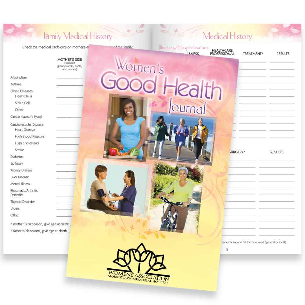 Women's Good Health Journal - Personalization Available
