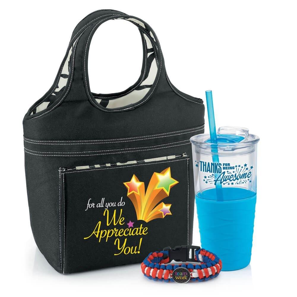 FREE Swirl Lunch Bag Splash Tumbler and Paracord Bracelet