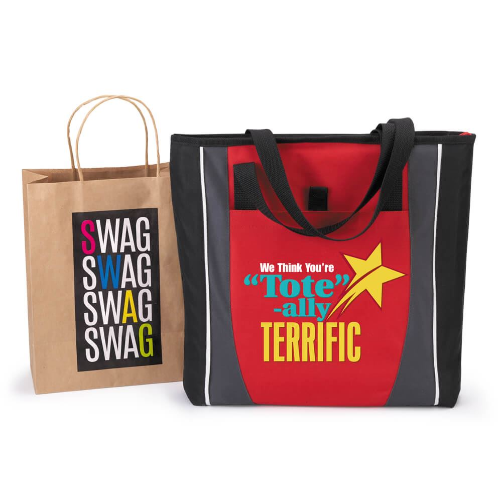 Free Gift Pack Of 10 Swag Bags And Prime Tote Bag