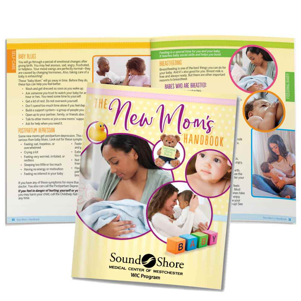 The New Mom's Handbook Easy-Read Version - Personalization Available