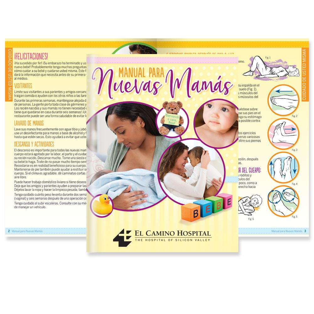 The New Mom's Handbook Spanish Language Easy-Read Version - Personalization Available