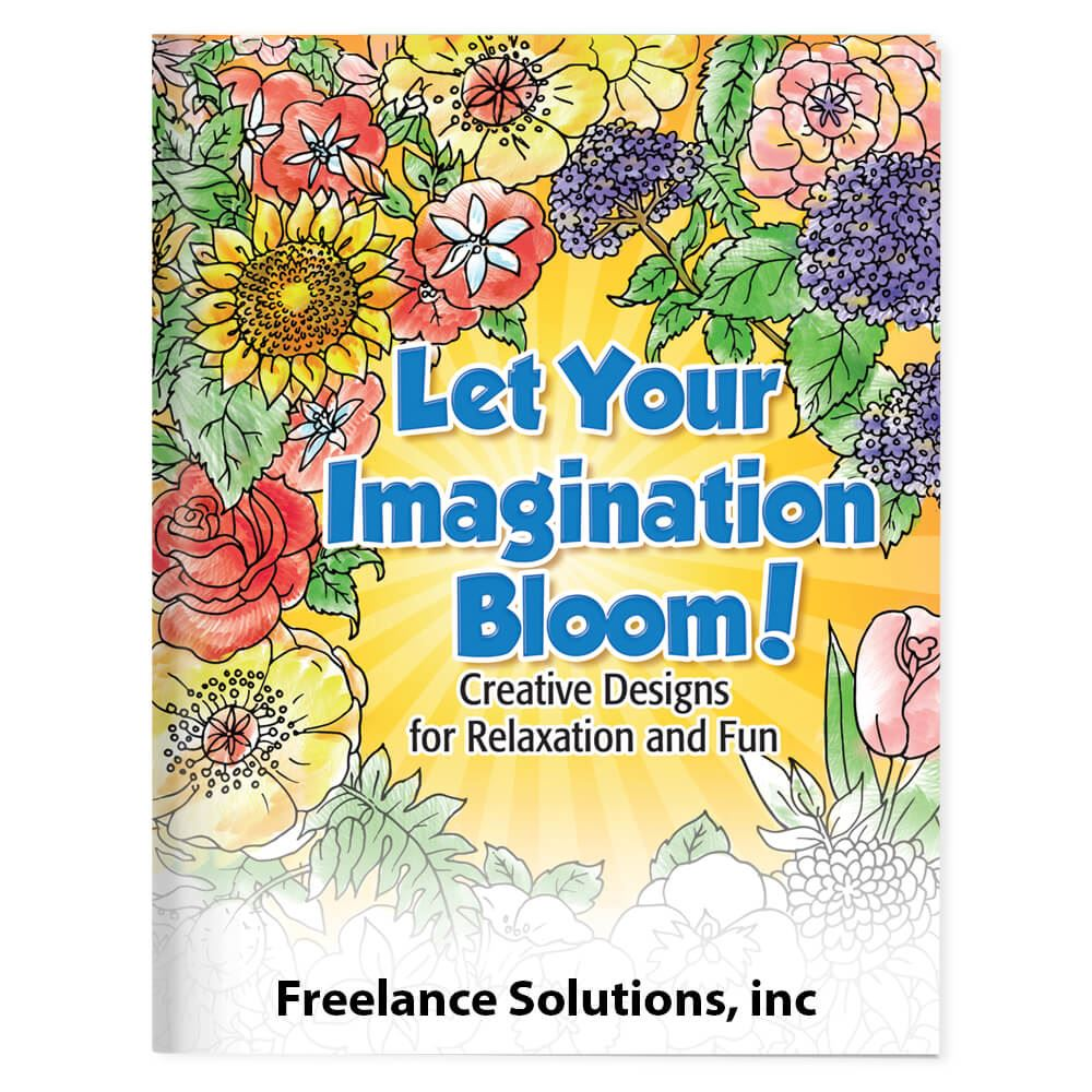 Let Your Imagination Bloom! Adult Coloring Book - Personalization ...
