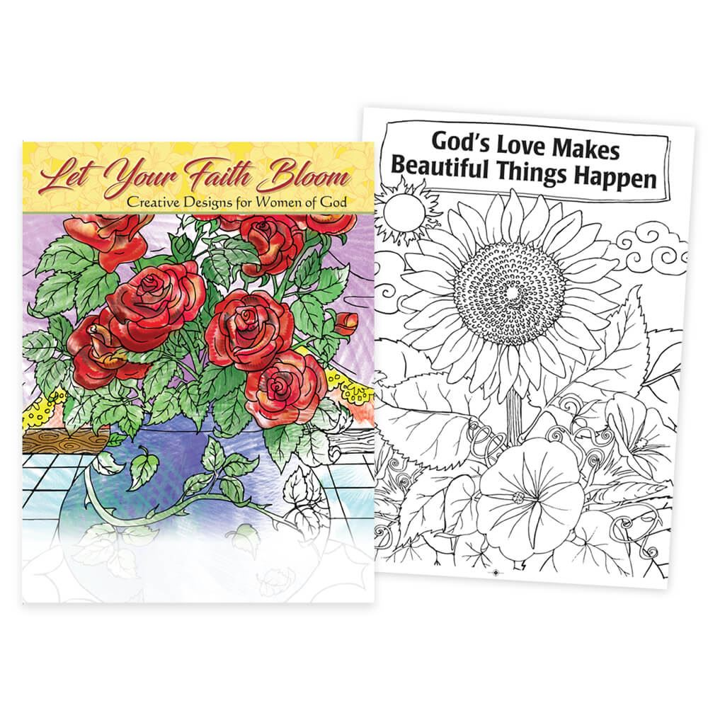 The coloring book of positivity - Let Your Faith Bloom Creative Designs For Women Of God Adult Coloring Book