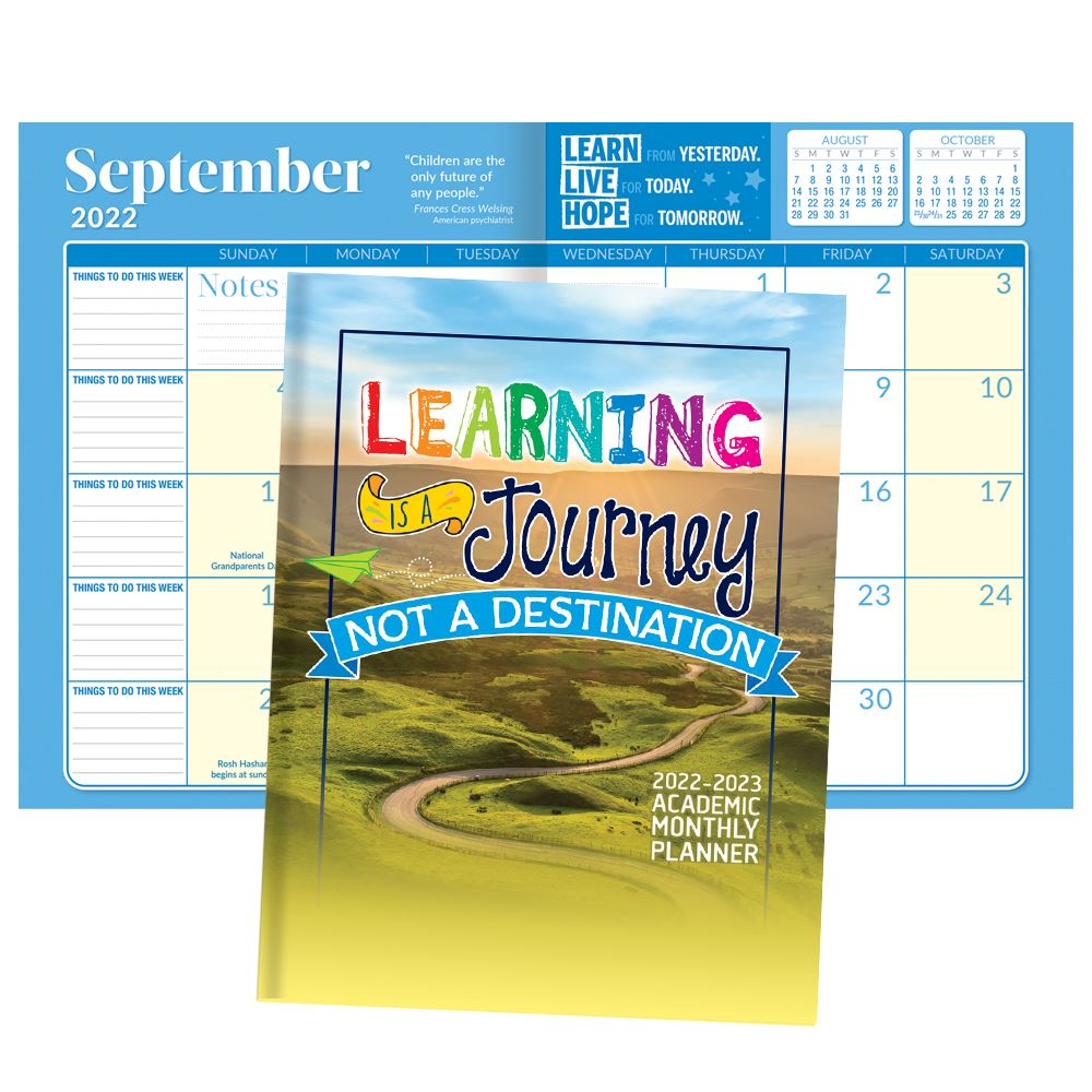 2021-2022 Academic Monthly Desk Planner - No Personalization