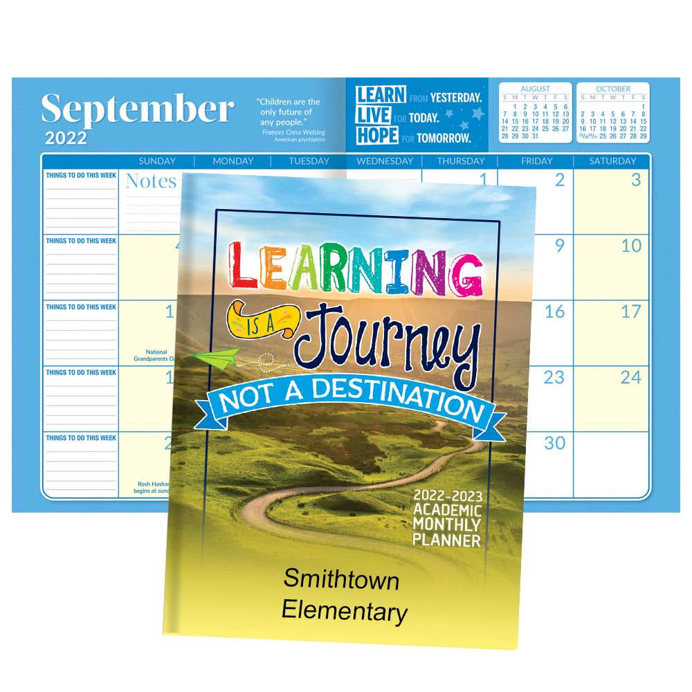 2021-2022 Academic Monthly Desk Planner - Personalization Available