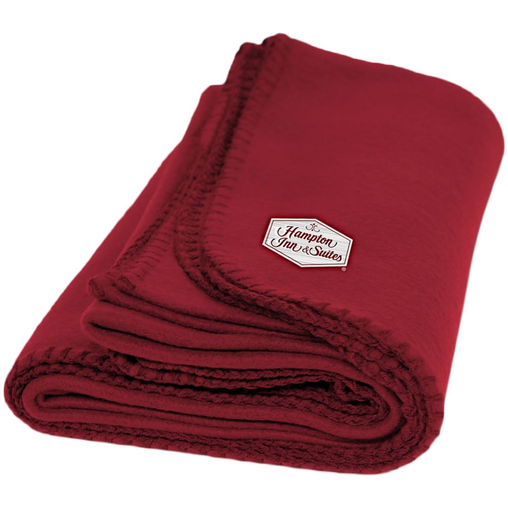 Fleece Throw Blanket - Embroidery Personalization Available