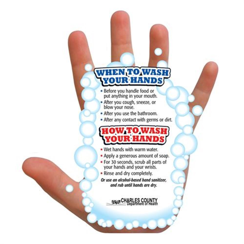 hand washing guide mag    personalization available