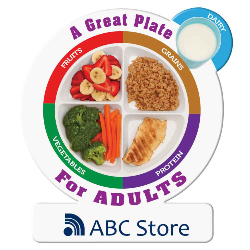 A Great Plate For Adults Magnet - Personalization Available