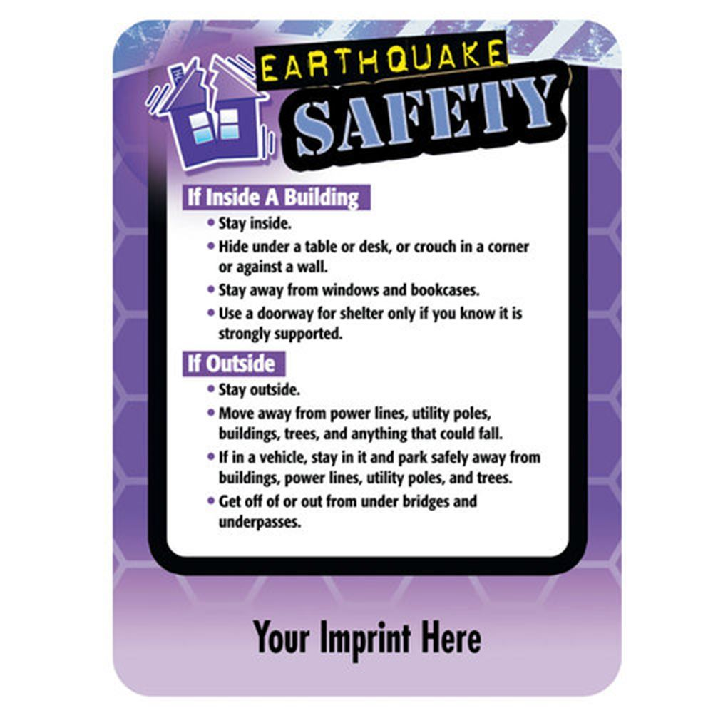 Earthquake Safety Magnet - Personalization Available