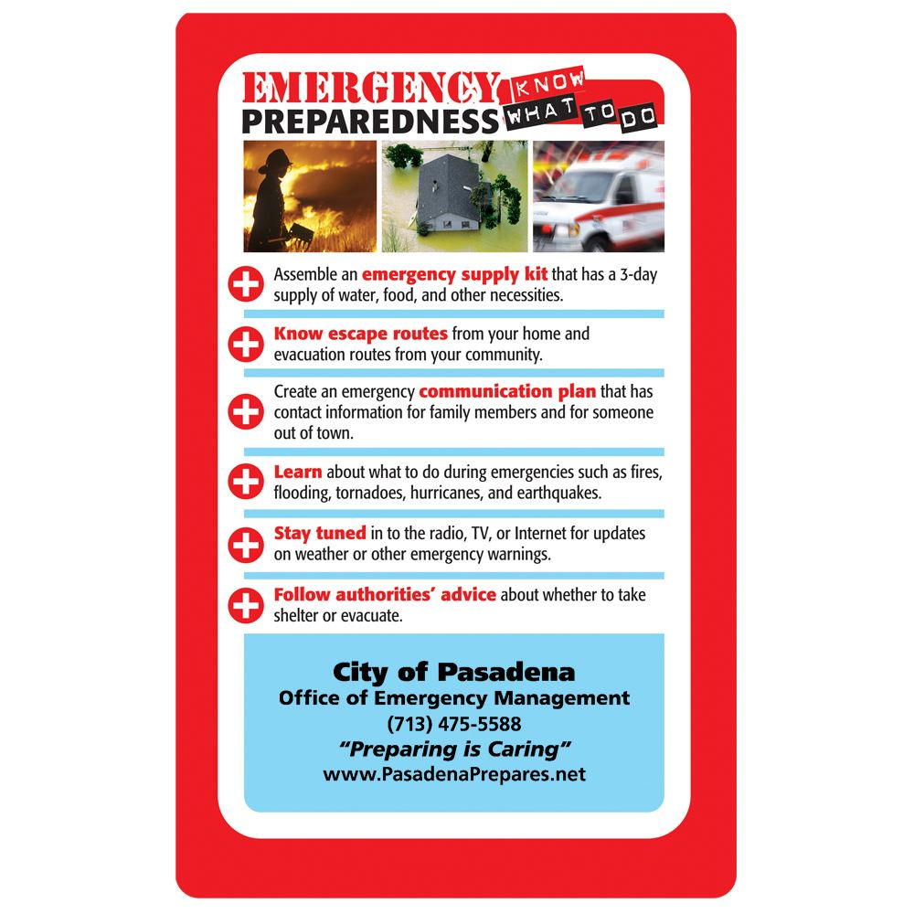 Emergency Preparedness: Know What To Do Magnet - Personalization Available