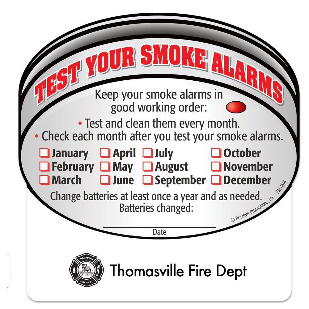 Test Your Smoke Alarms Fire Safety Magnet - Personalization Available