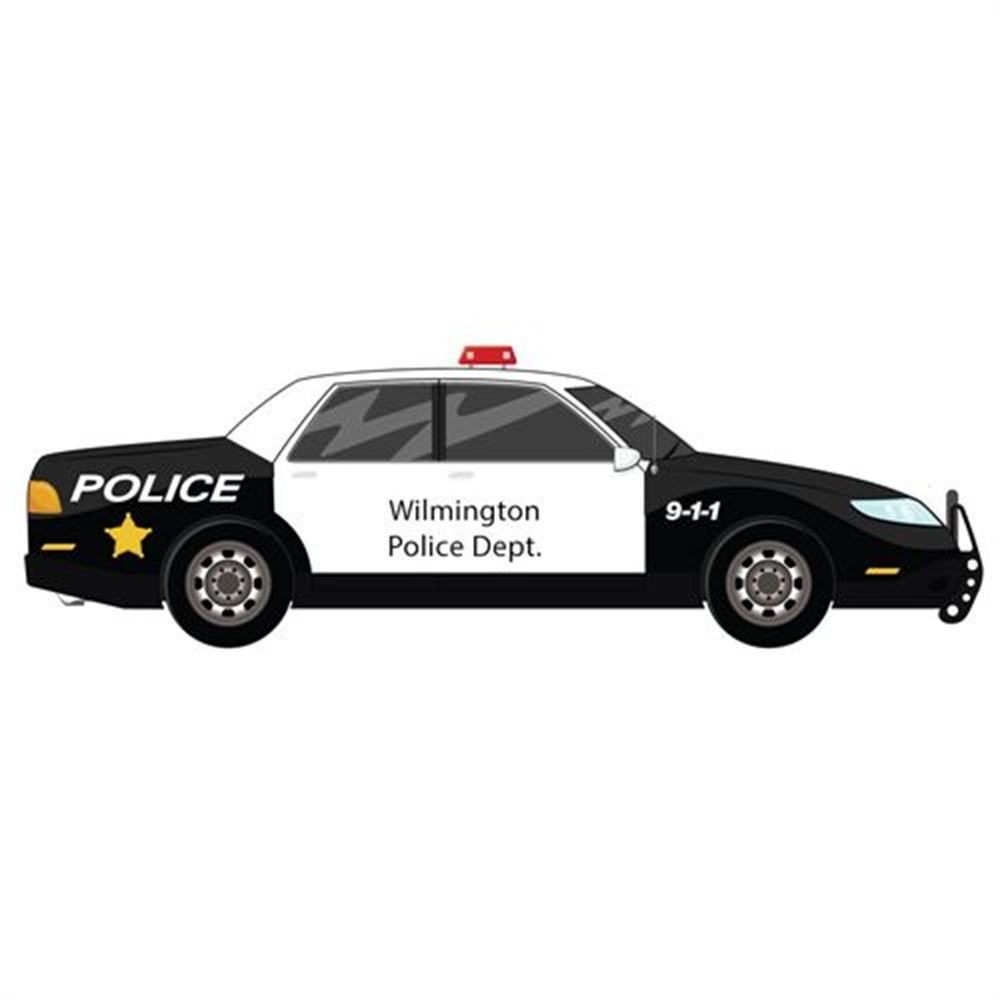 Police Car Die-Cut Magnet - Personalization Available