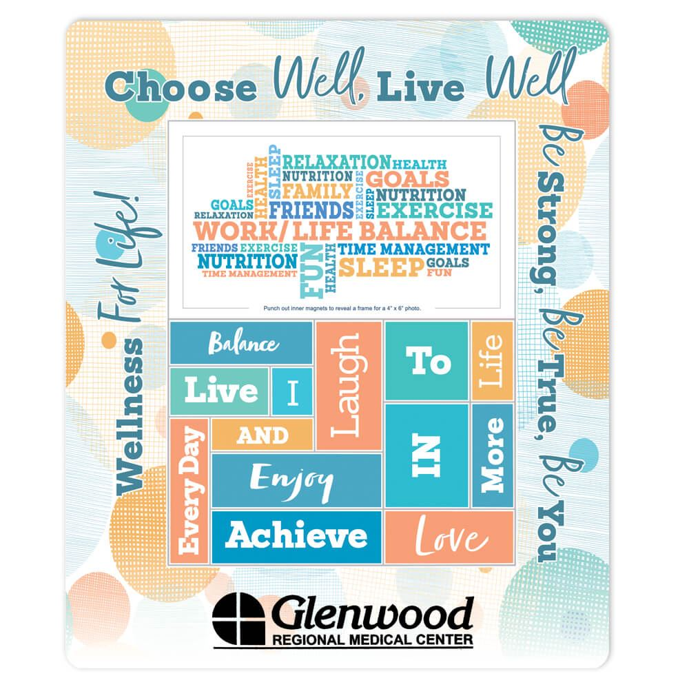 Work/Life Balance Magnetic Photo Frame - Personalization Available