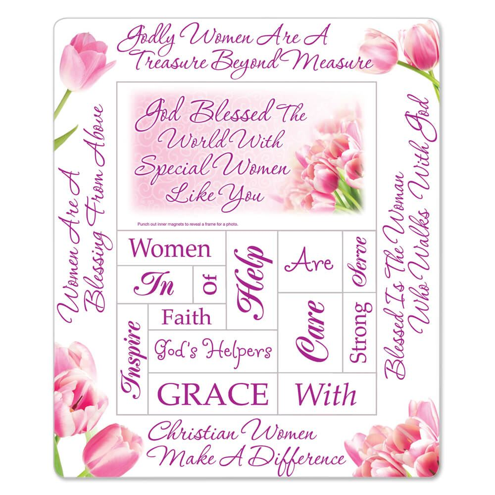 God Blessed The World With Special Women Like You Magnetic Photo Frame