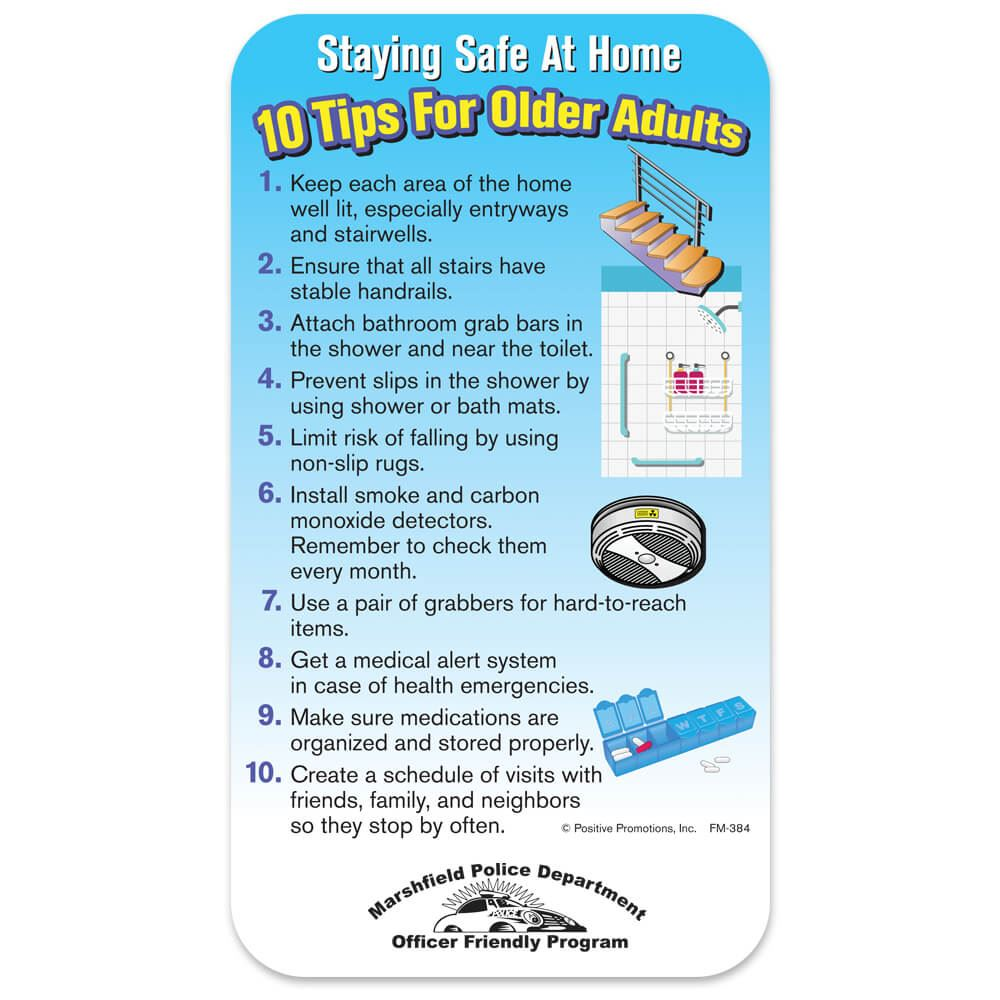 Staying Safe At Home: 10 Tips For Older Adults Magnet - Personalization Available