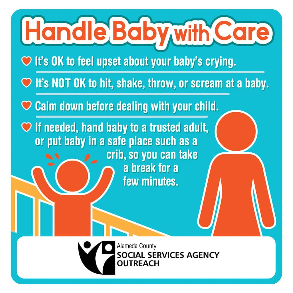 Handle Baby With Care Magnet - Personalization Available