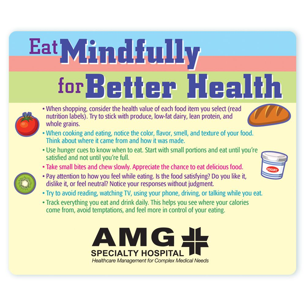 Eat Mindfully For Better Health Magnet - Personalization Available