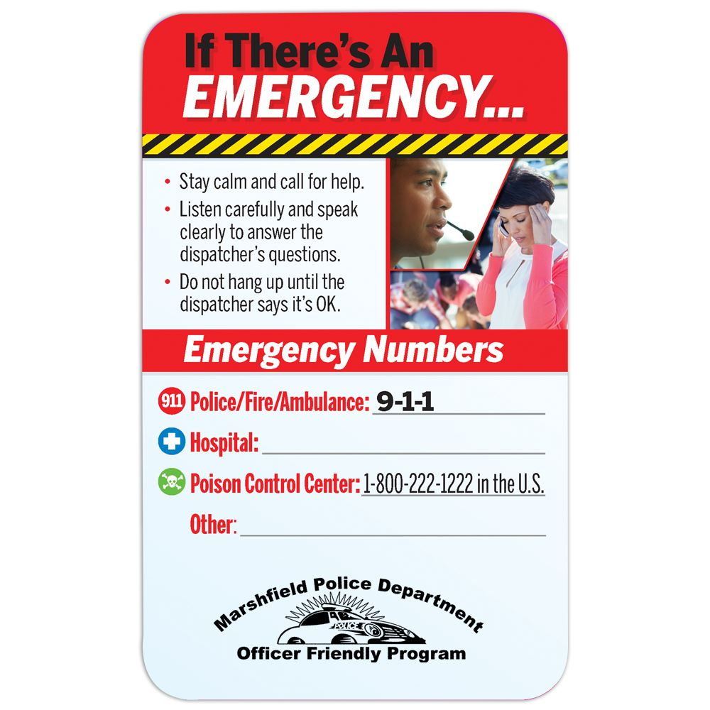 What To Do In An Emergency Magnet - Personalization Available