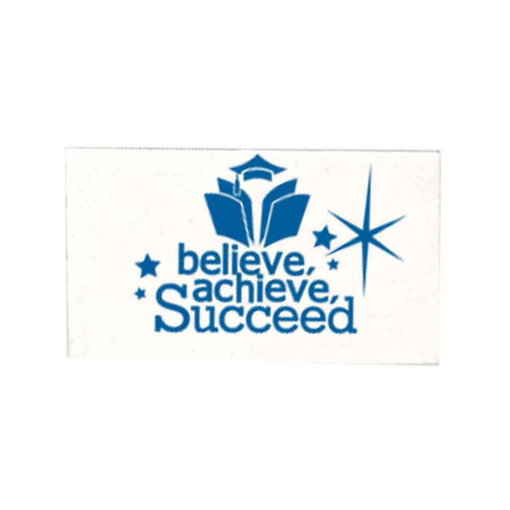 Believe, Achieve, Succeed White Pencil Erasers - Pack of 25