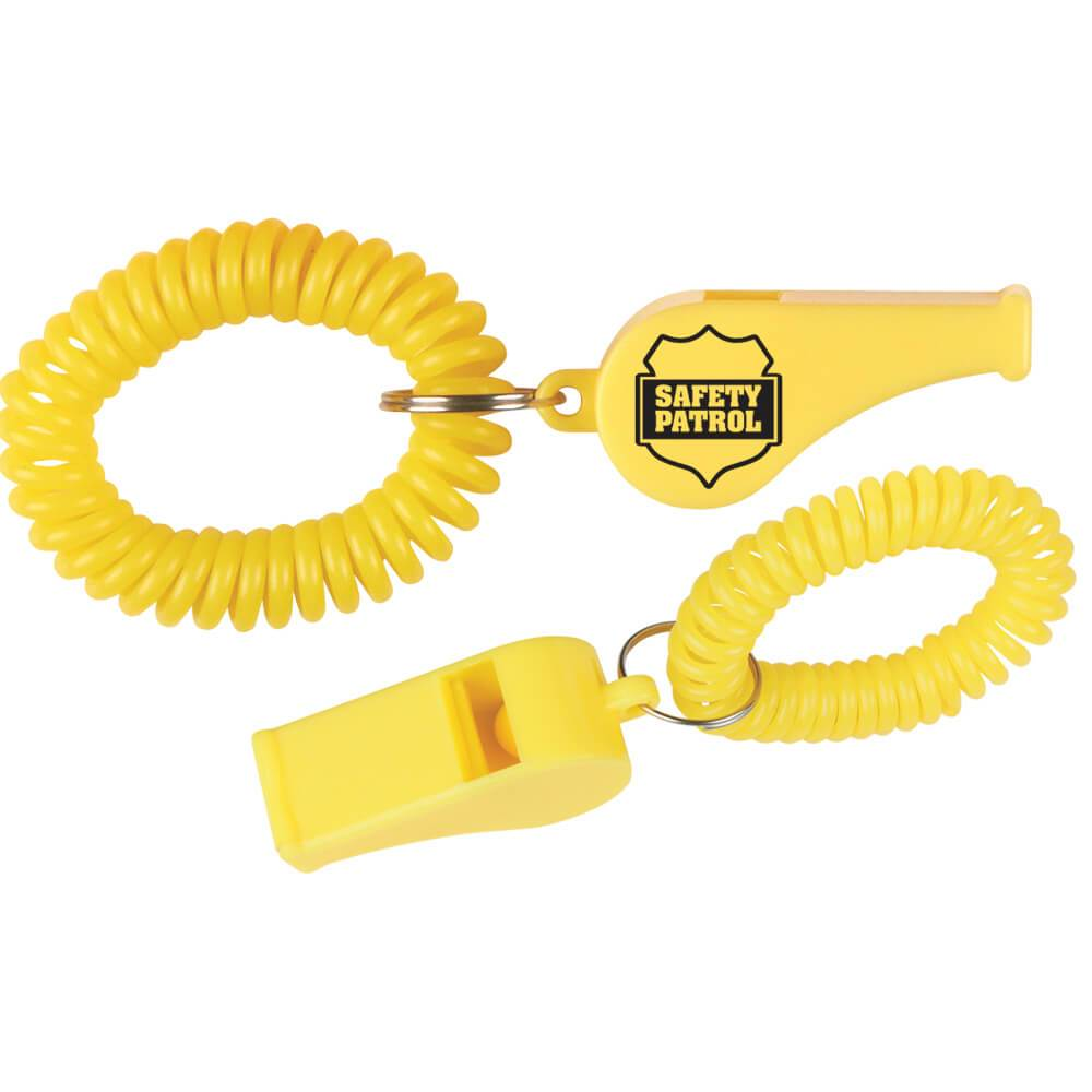 Safety Patrol Whistle With Coil