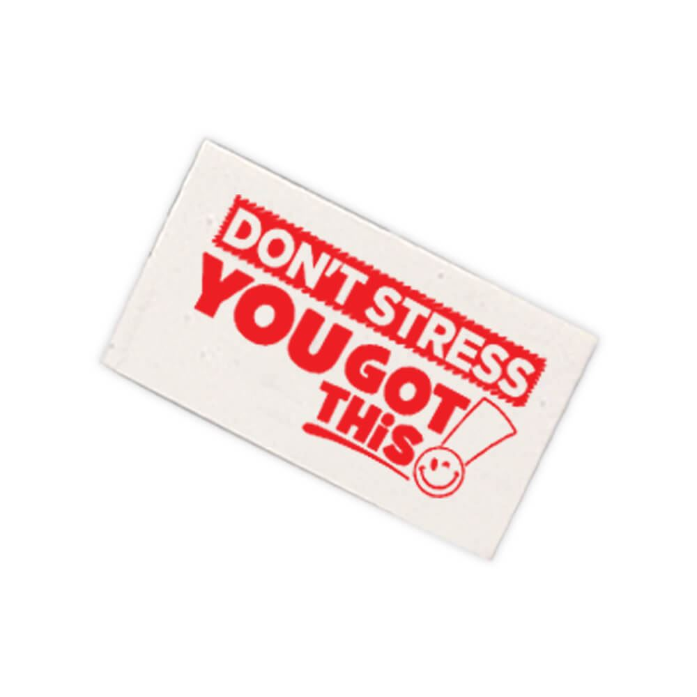 Don't Stress, You Got This! White Erasers - Pack of 25