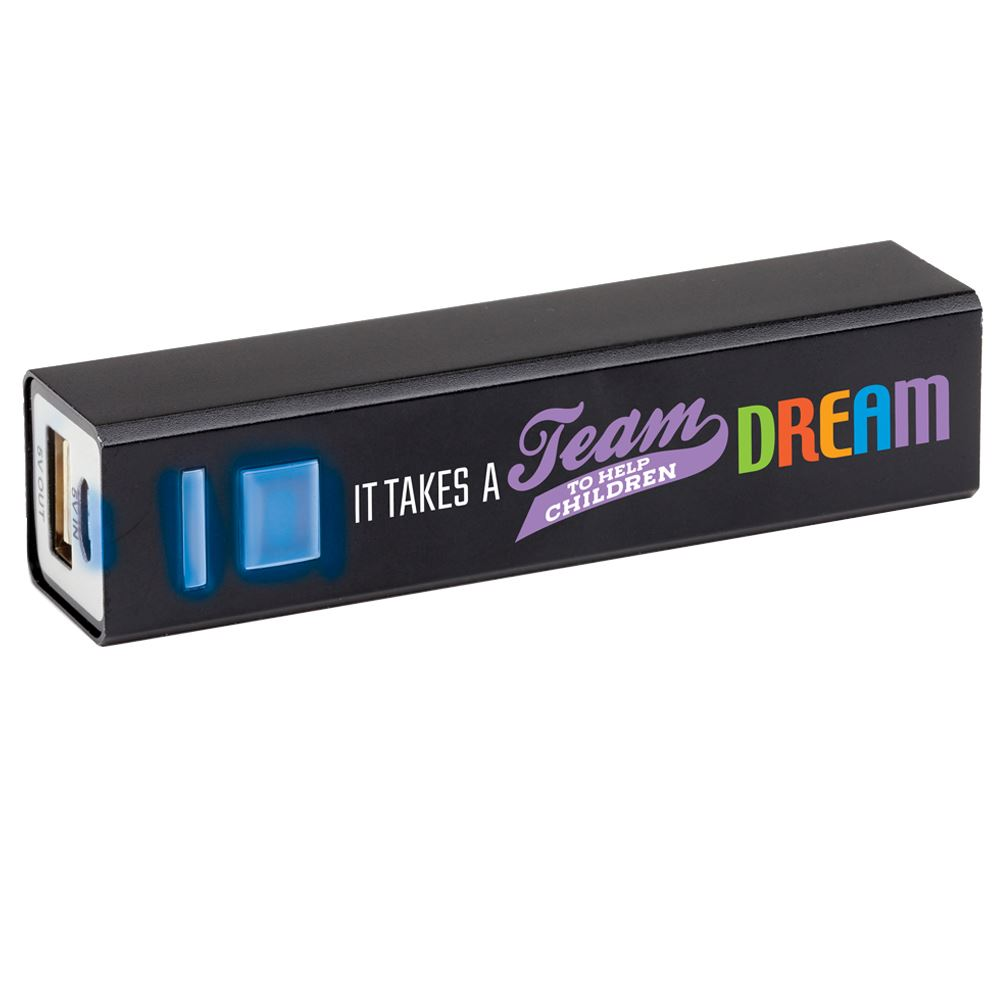 It Takes A Team To Help Children Dream Metal Power Bank