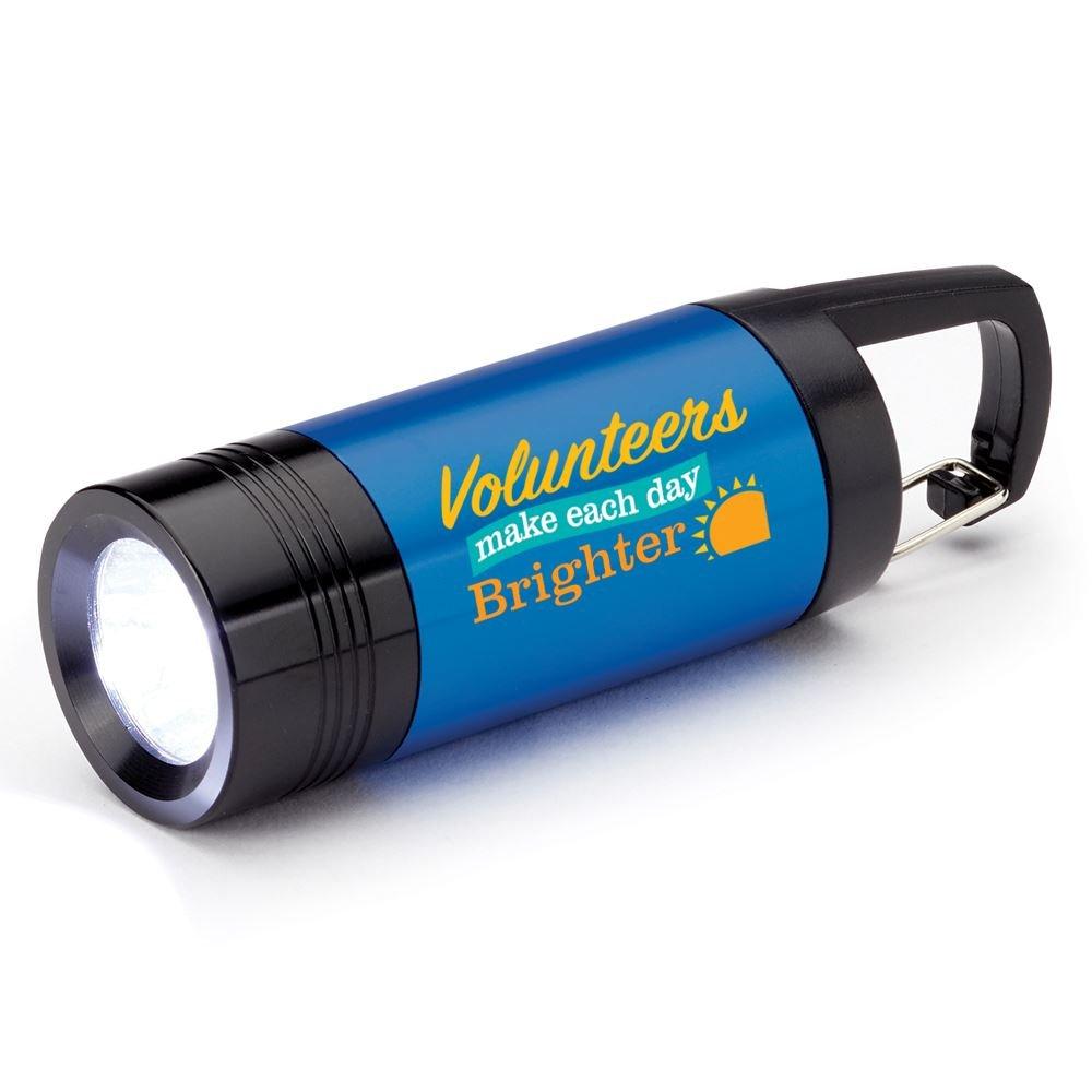 Volunteers Make Each Day Brighter Ridgewood LED Carabiner Flashlight