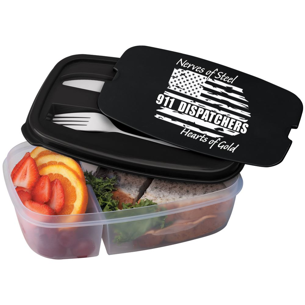 911 Dispatchers Nerves Of Steel Heart Of Gold 2-Section Food Container