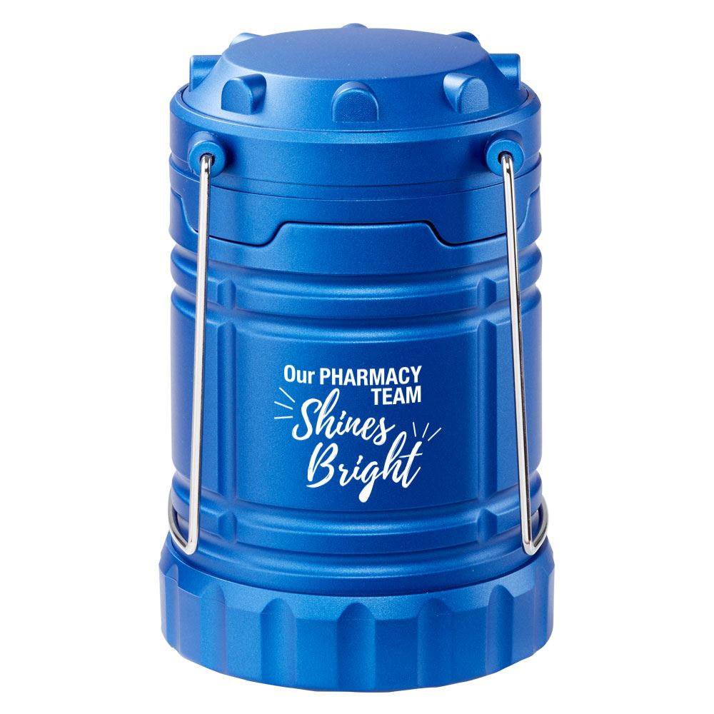 Our Pharmacy Team Shines Bright Indoor/Outdoor Retractable LED Lantern with Magnetic Base