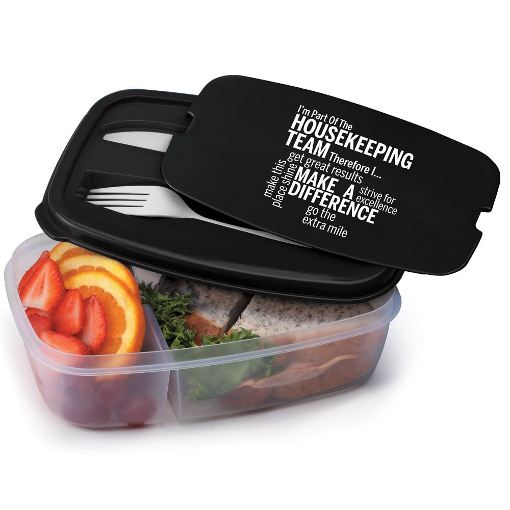 I'm Part Of The Housekeeping Team Therefore I... 2-Section Food Container