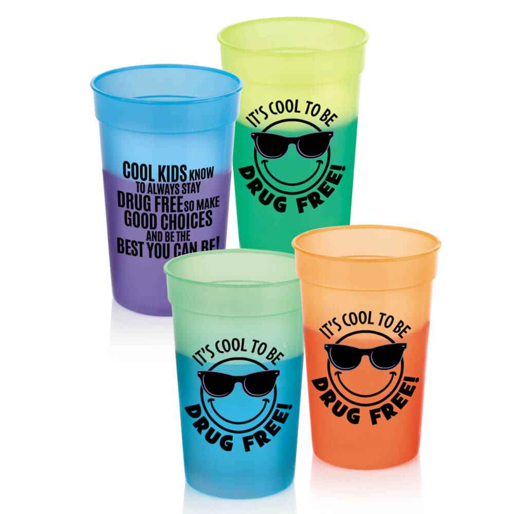 It's Cool To Be Drug Free! Assorted Mood Cups 17-Oz. - Pack of 10