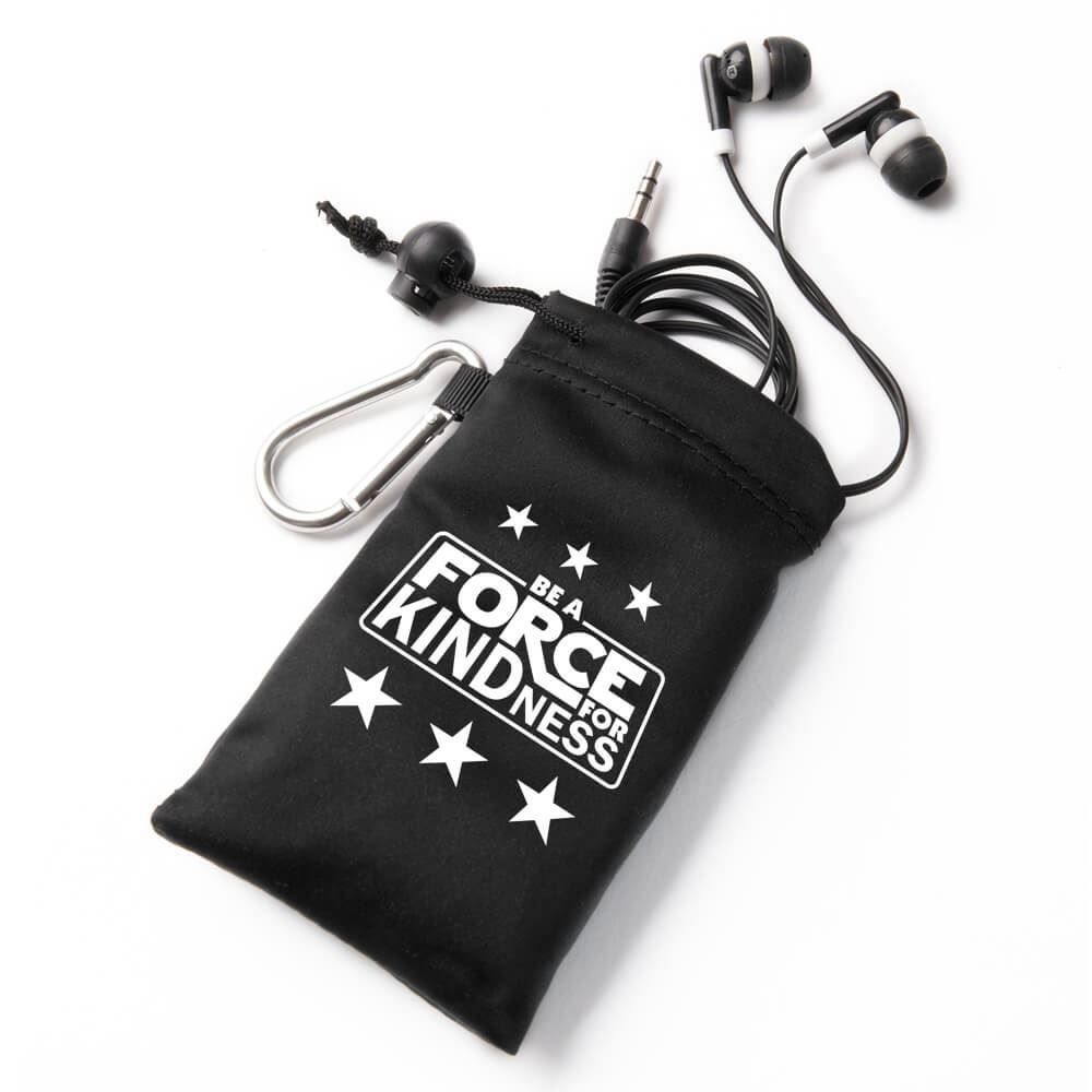 Be A Force For Kindness Earbuds In Pouch