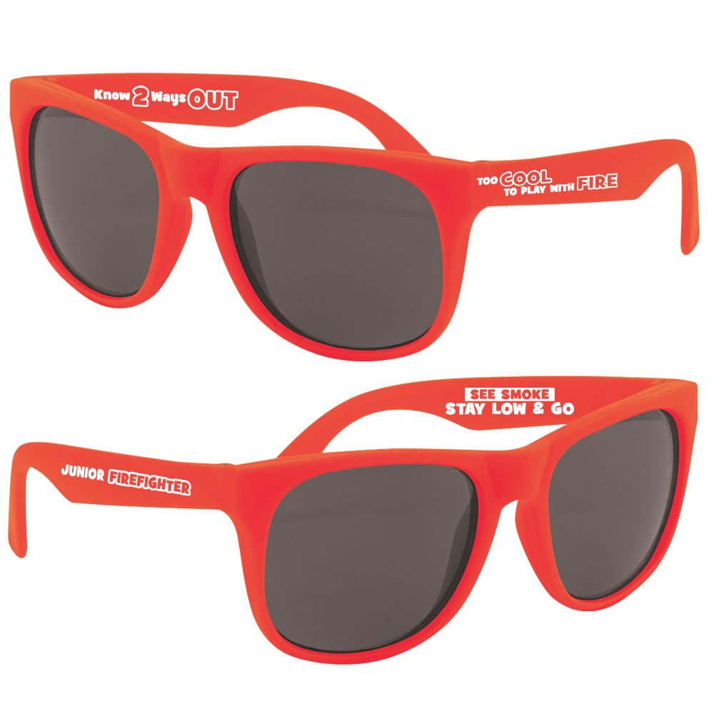 Too Cool To Play With Fire Red Ribbon Sunglasses