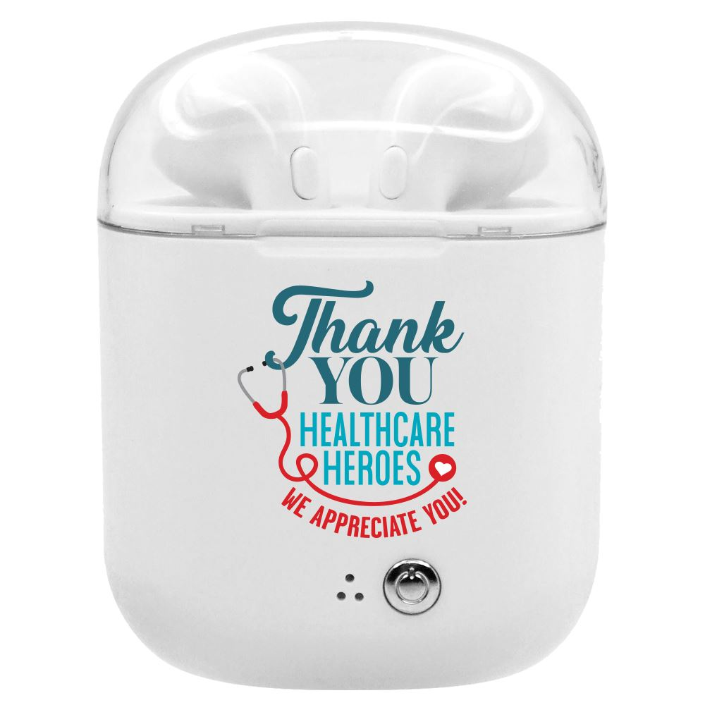 Thank You Healthcare Heroes Bluetooth��Earbuds In Charging Case