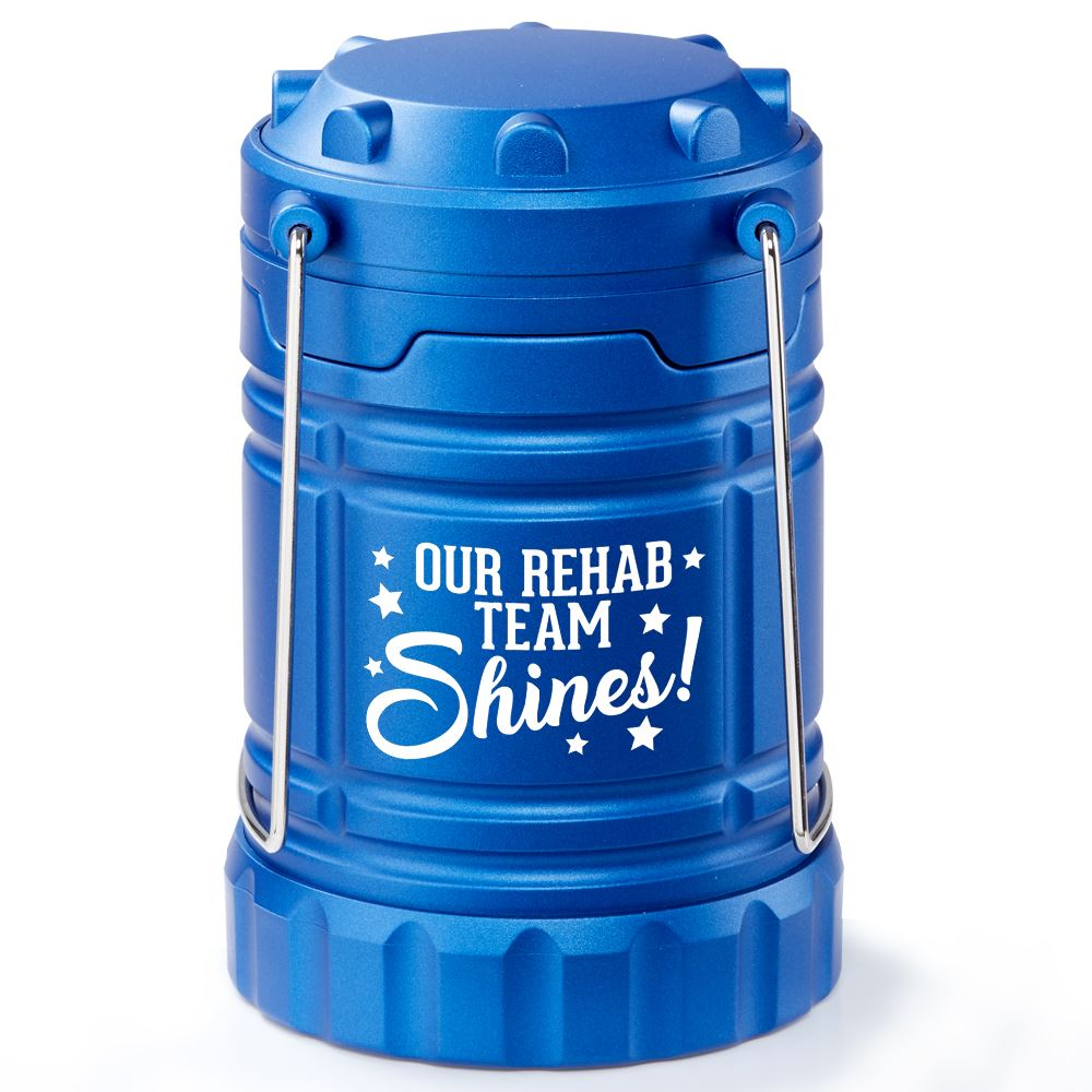 Our Rehab Team Shines Indoor/Outdoor Lantern with Magnetic Base