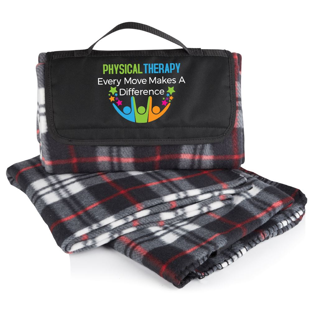 Physical Therapy: Every Move Makes A Difference Plaid Fleece Blanket