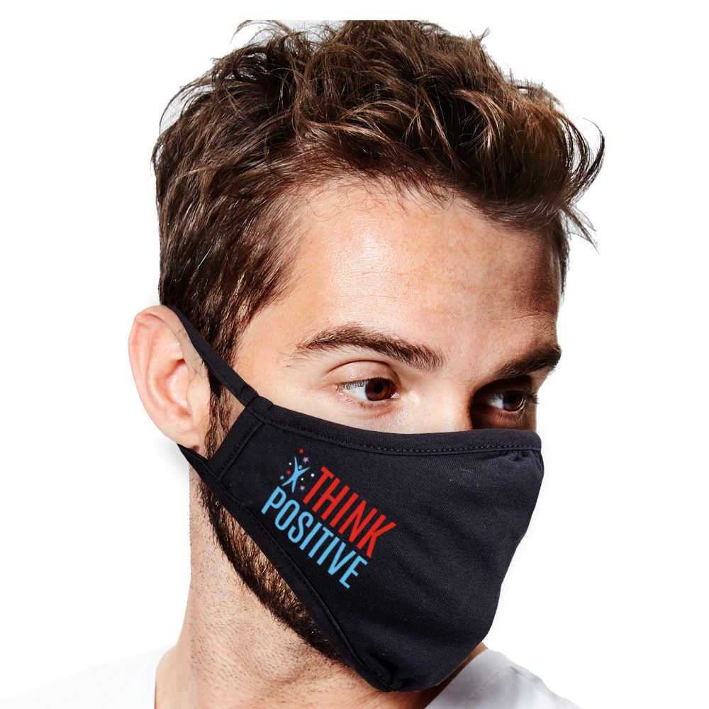 Think Positive 2-Ply 100% Cotton Face Mask