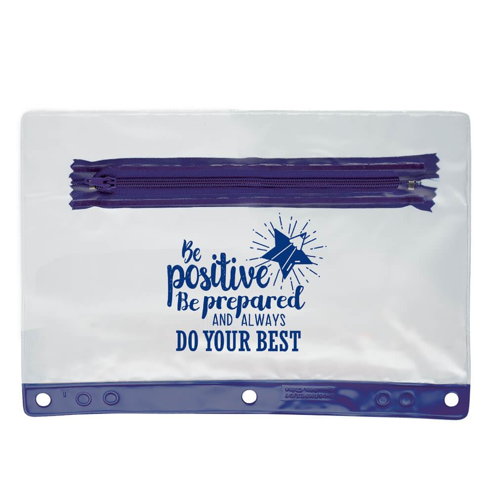 Be Positive, Be Prepared, And Always Do Your Best Pencil Pouch - Pack of 10