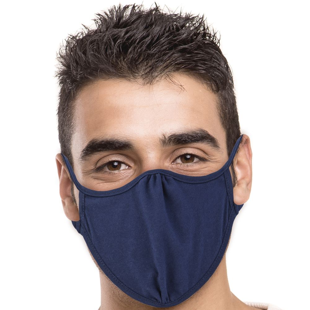 Next Level 2-Ply Blended Face Mask in Navy