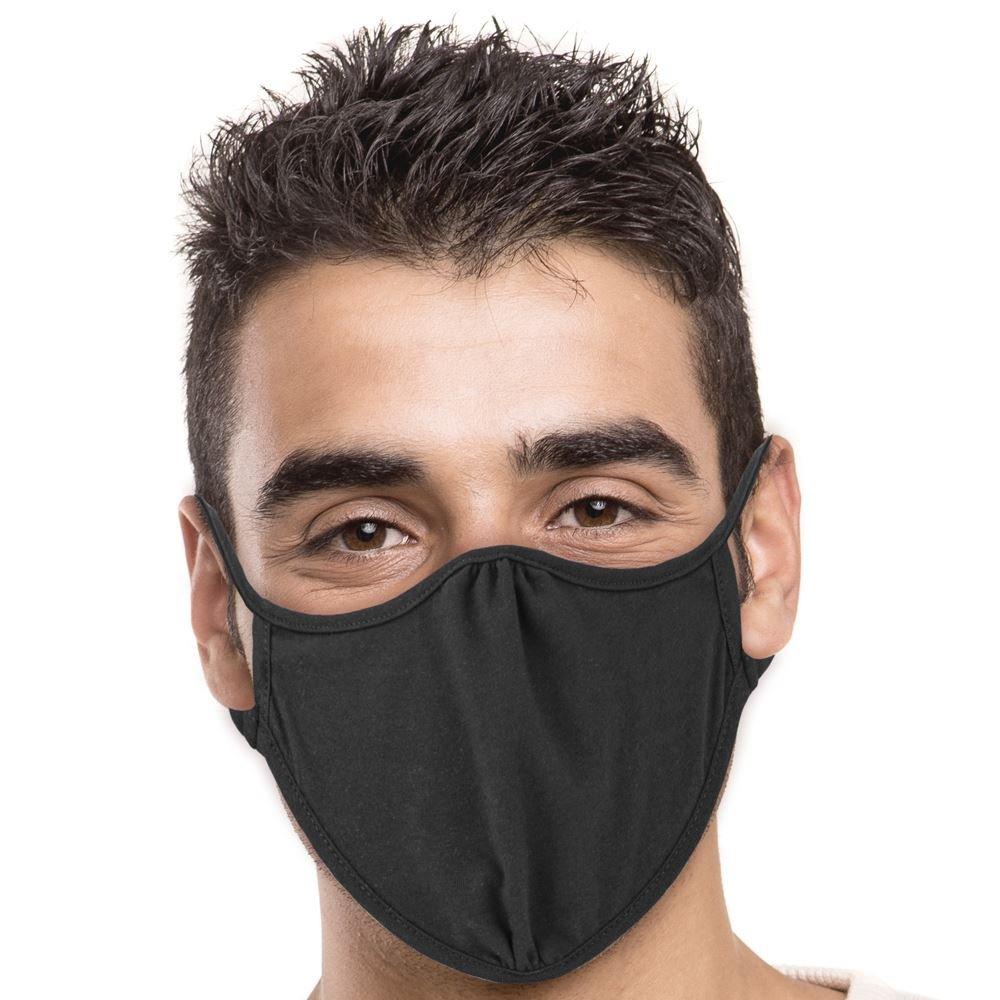 Next Level 2-Ply Blended Face Mask in Black