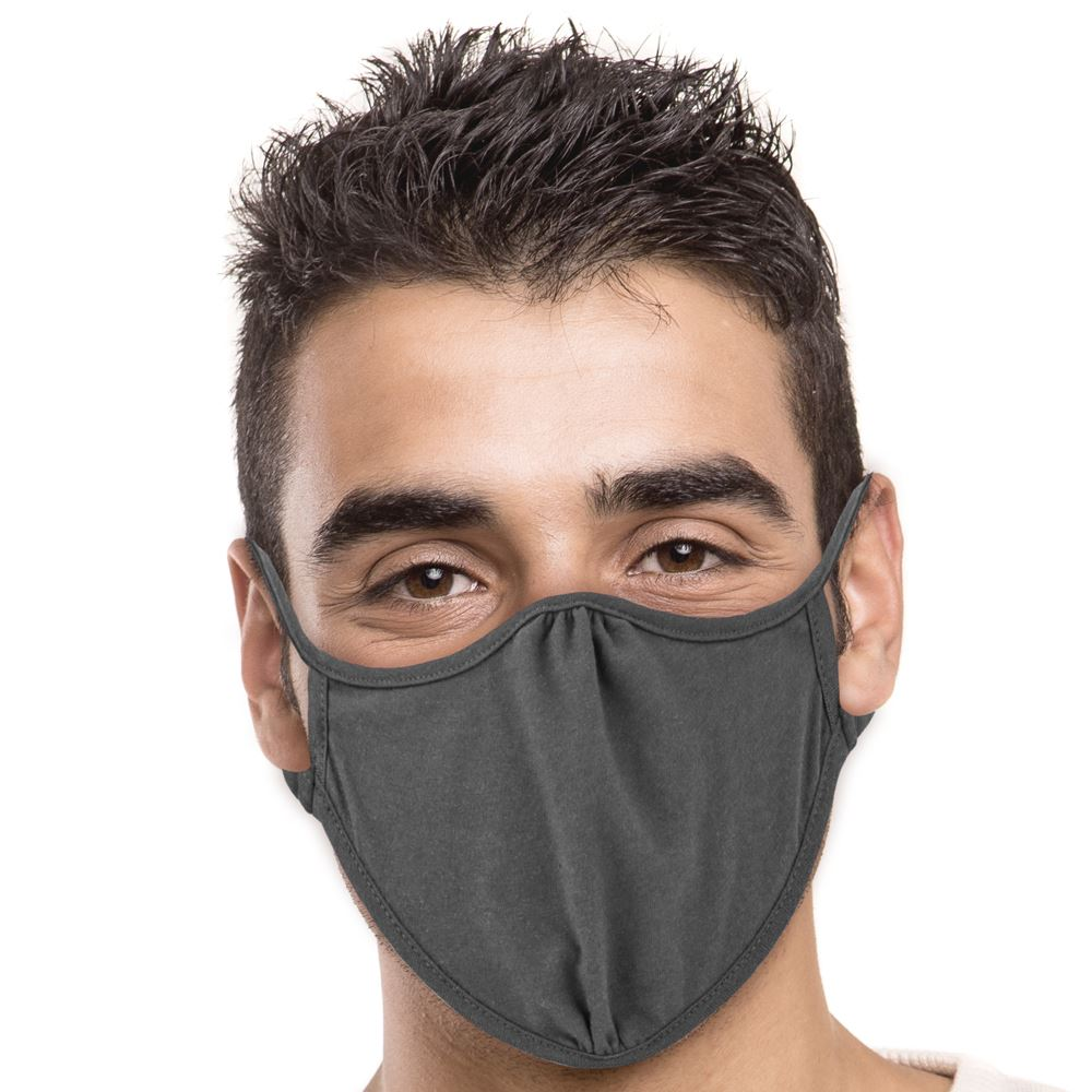 Next Level 2-Ply Blended Face Mask in Dark Heather Grey