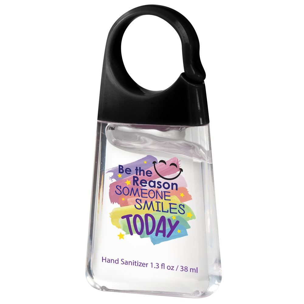 Be The Reason Someone Smiles Today 1.3-oz. Hand Sanitizer With Carabiner Clip