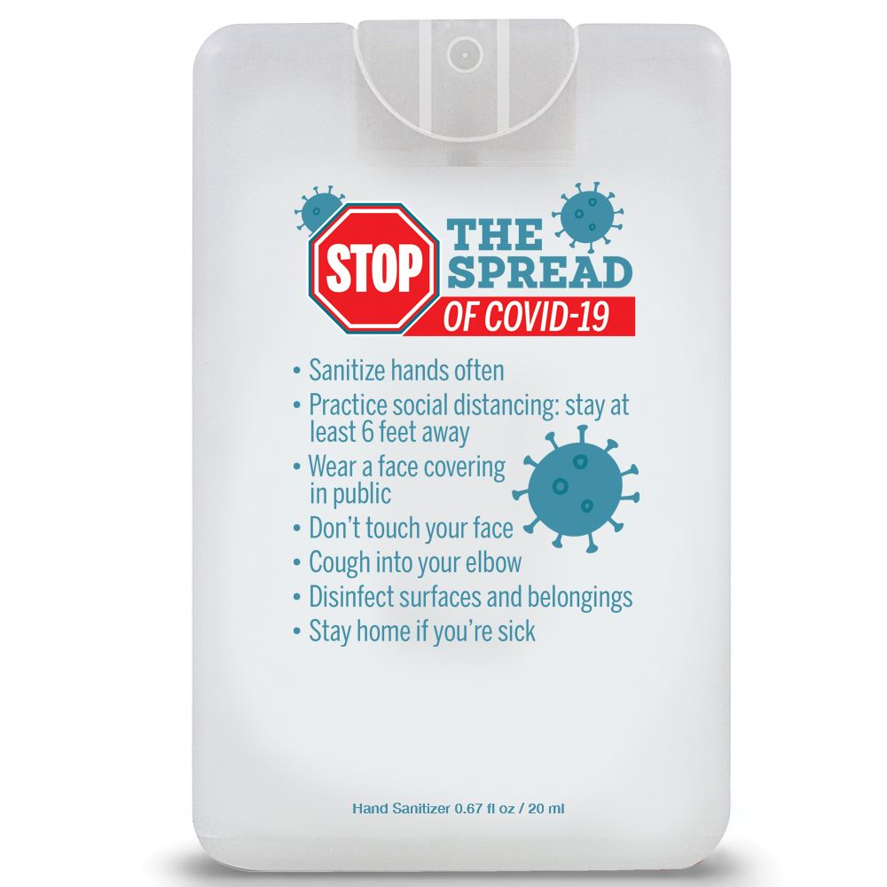 Stop The Spread Credit Card Style Antibacterial Hand Sanitizer Spray