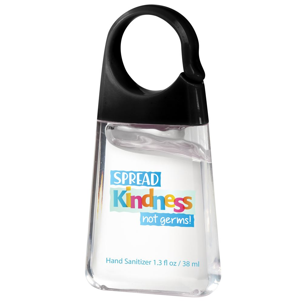Spread Kindness Not Germs Hand Sanitizer With Carabiner Clip