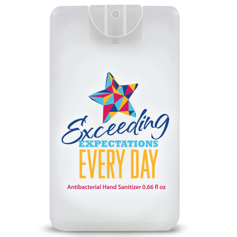 Exceeding Expectations Every Day�Credit Card Style Hand Sanitizer Spray