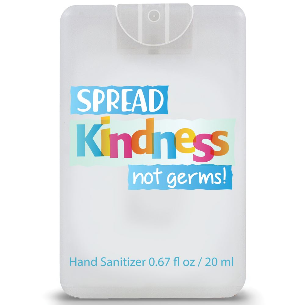Spread Kindness Not Germs�Credit Card Style Hand Sanitizer Spray