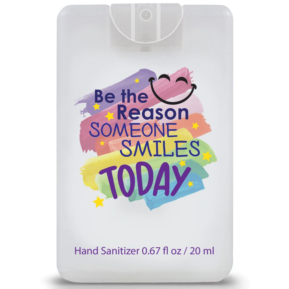 Be The Reason Someone Smiles Today�Credit Card Style Hand Sanitizer Spray